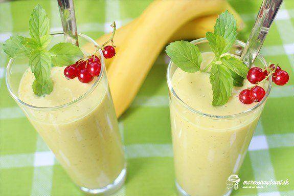 Banánovo-mangové smoothie
