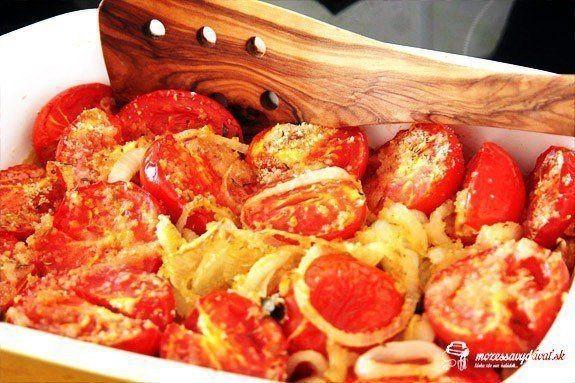 Zapekané paradajky s bylinkami