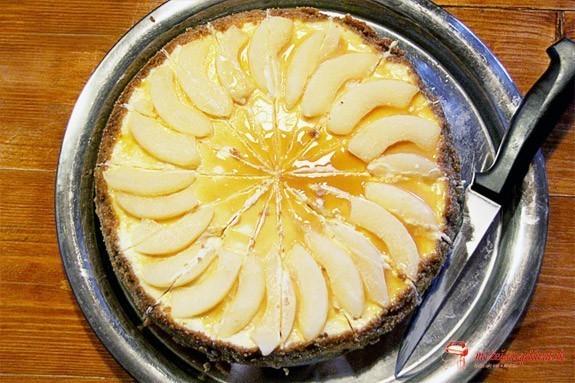 Perníkovo-hruškový cheesecake