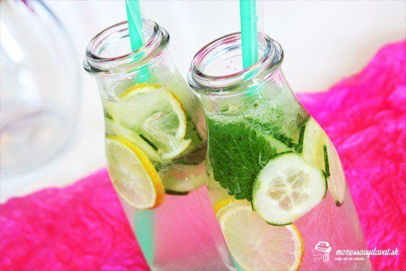 Uhorkovo-mätová limonáda