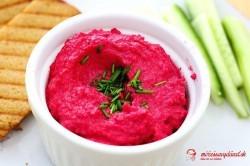 Hummus z červenej šošovice a cvikly