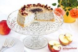 Makovo-jablkový cheesecake