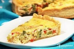 Brokolicovo-syrový quiche