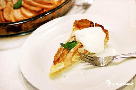Hruškovo-tvarohový tart