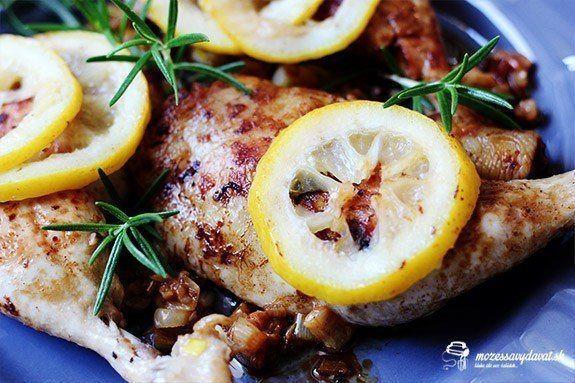 Kuracie stehná na citrónoch a rozmaríne