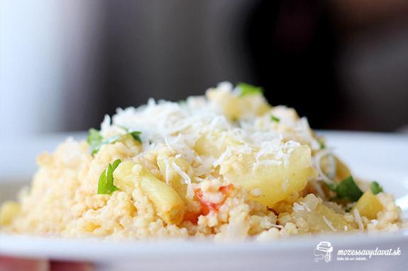 Krémové pšenové rizoto s letnou zeleninou