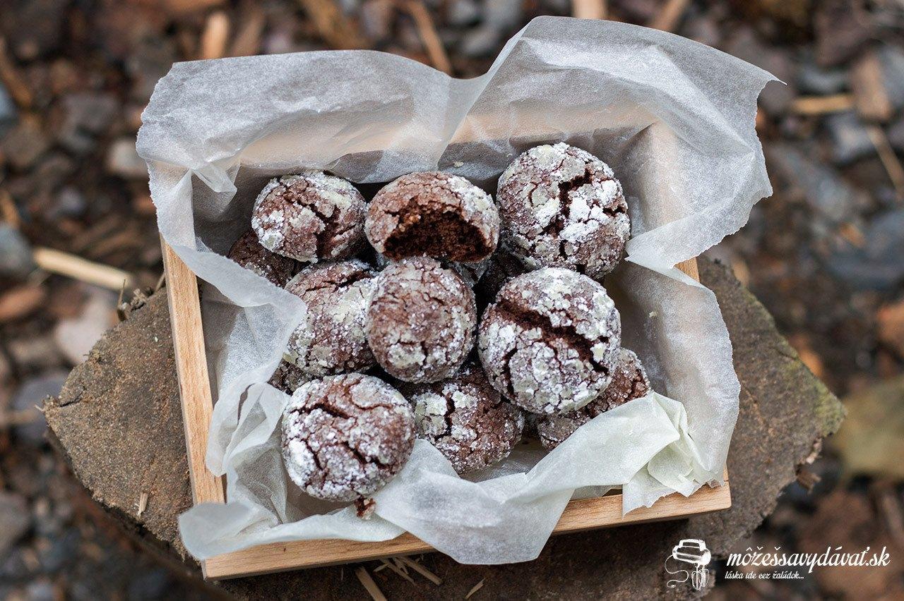 Čokoládovo-perníkové crinkles