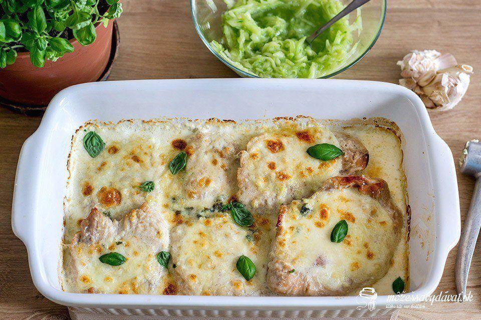 Zapekané morčacie prsia s mozzarellou