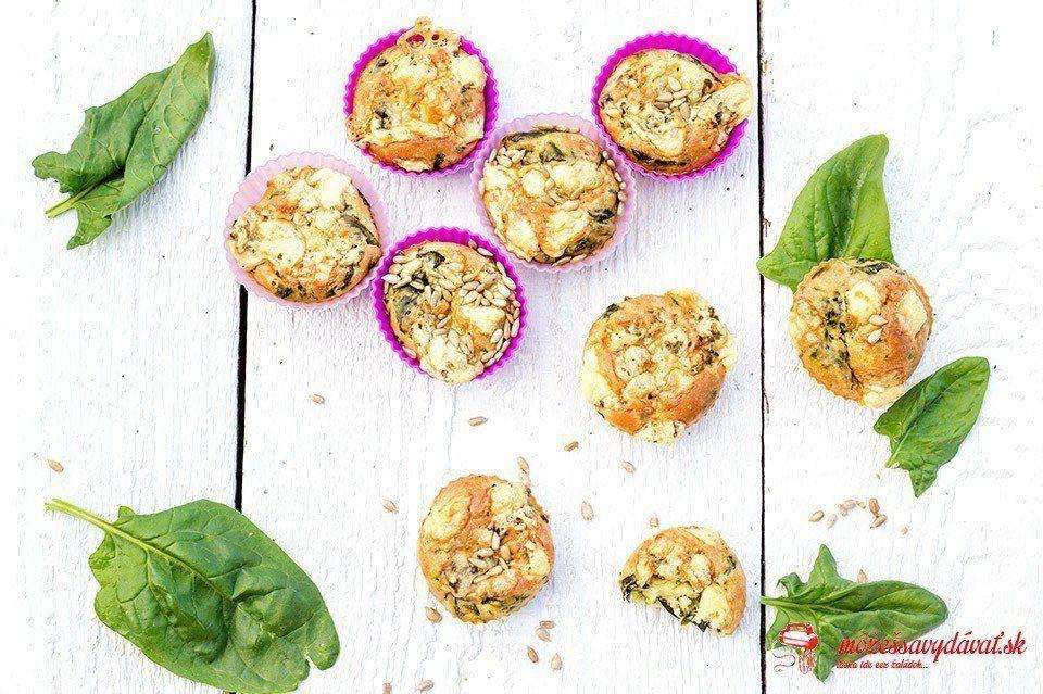 Špenátové muffiny s nivou