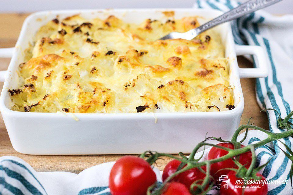 Zapekaný karfiol duo formaggi
