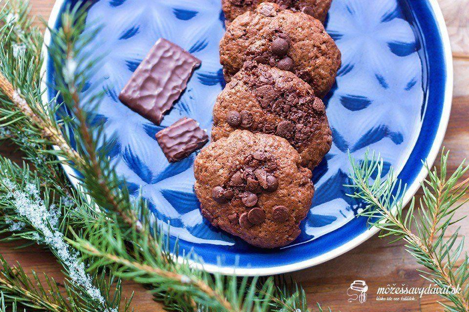 Čoko-pepermintové cookies