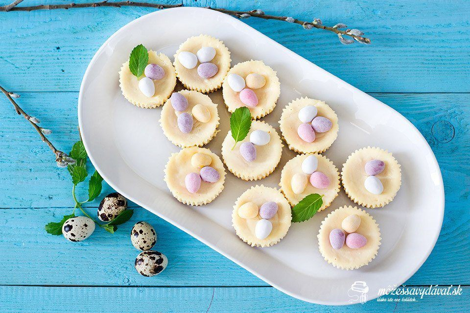 Mini cheesecakes s vaječným likérom