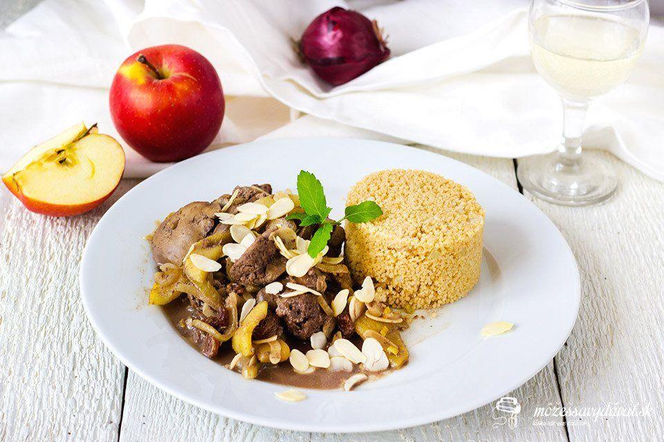 Kuracia pečeň na jablkách a víne