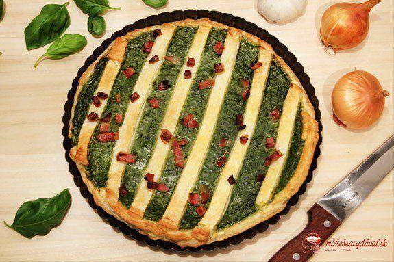 Slaný špenátový koláč