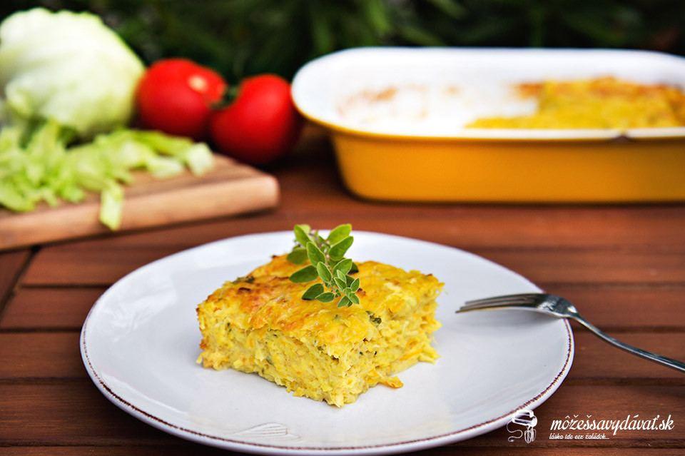Kalerábový nákyp so syrom