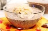 Kokosovo-banánový chia puding