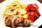 Kuracie stehno v slaninke