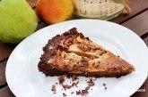 Čokoládovo-pomarančový koláč s hruškami