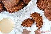 Čokoládovo-lieskové cookies s vločkami