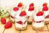 Cheesecake v pohári