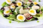 Šalát Nicoise s prepeličími vajíčkami