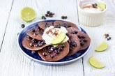 Kakaové lievance s ríbezľami