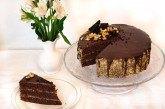 Orechovo-čokoládová torta